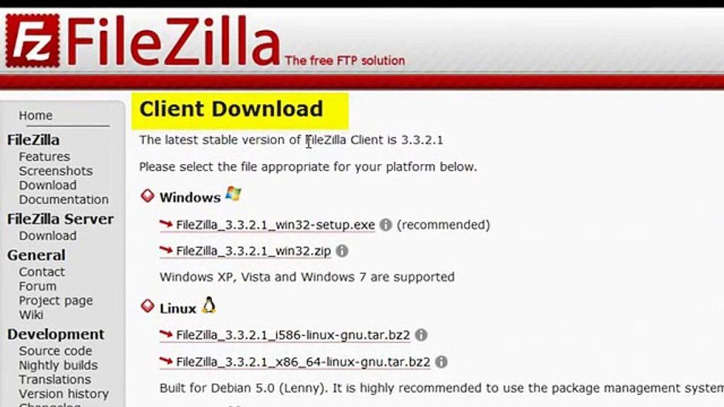 Cómo instalar Filezilla